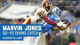 Marvin Jones Burns Josh Norman on this Diving Grab & Zenner's TD Dive | Redskins vs. Lions | NFL