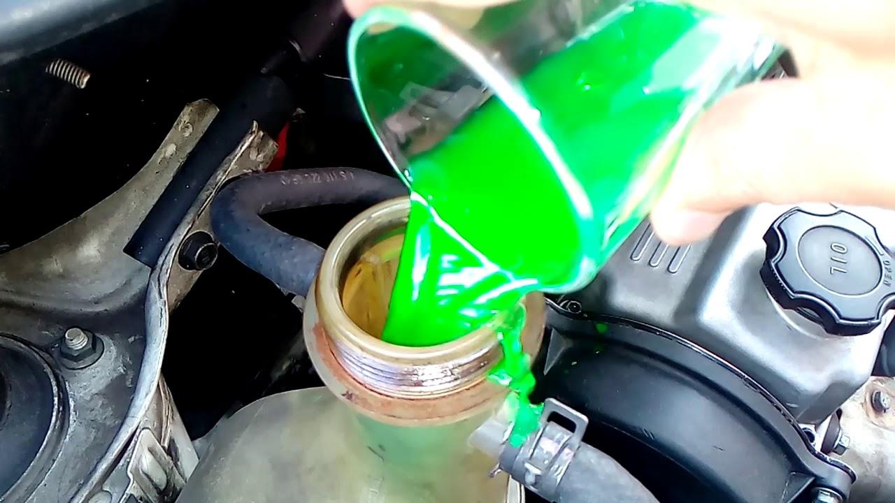 Se puede pasar de agua a refrigerante