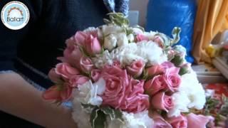 Собираем букет невесты. Нежные оттенки розового