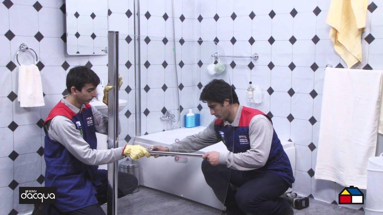 C mo armar e instalar tu mampara de ducha 140 x 90 cm - Instalar mampara de ducha ...