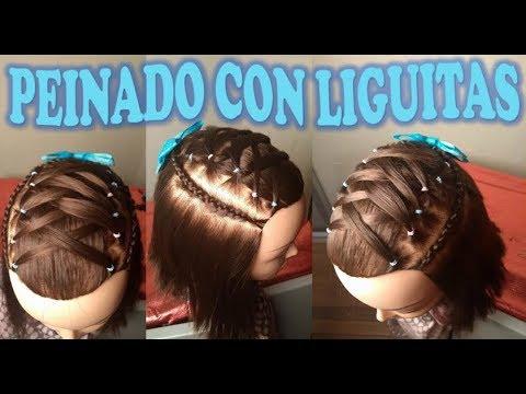 Peinado Para Ninas De Cabello Corto Peinado Con Liguitas Maria