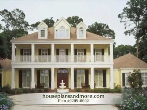 French Creole Acadian Homes Video | House Plans and More