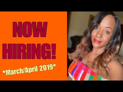 6 Work From Home Jobs Hiring Now For March/April 2019