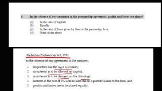 Absence of Partnership Agreement - Profit Distribution - A0106