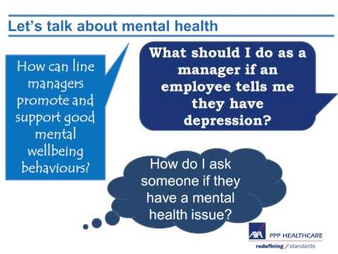 Let's Talk About Mental Health - AXA PPP Healthcare Webinar