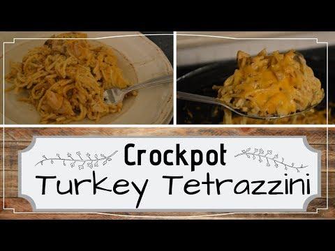 Crockpot Turkey Tetrazzini I Leftover Turkey I Makeover Meal