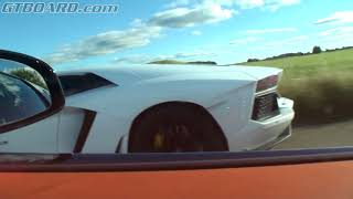 Bugatti Veyron Grand Sport Vitesse 16.4 TOYING with the Lamborghini LP700-4 Aventador TWICE
