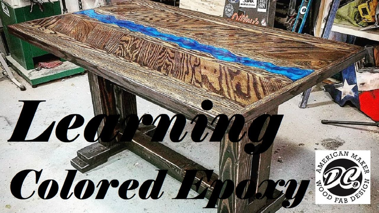 CUSTOM TABLE. LEARNING COLORED EPOXY.