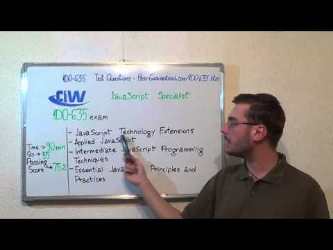 1D0-635 – CIW Exam JavaScript Specialist Test Certification Questions