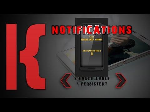 KLWP Tutorial Notifications