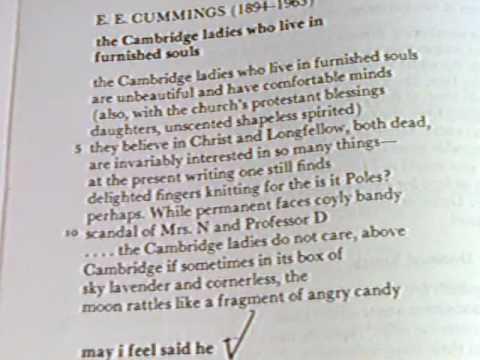 ee cummings the cambridge ladies