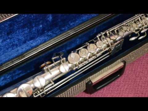 Vintage Soprano Saxophone Weltklang