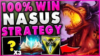 Download THIS NEW NASUS STRATEGY GUARANTEE'S HIS OP LATE-GAME! *UNBEATABLE NASUS TOP* - League of Legends Mp3 and Videos