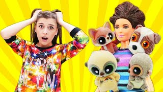 Домашние животные устроили бардак у Терезы дома - Видео с куклами Барби. Ох уж эти куклы!