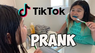 RECREATING FUNNY TIK TOK  PRANKS ON MY SISTER!