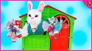 Coelho da Páscoa Escondeu os Ovos Surpresa da Laurinha! Easter Bunny Hidden Eggs Laurinha's Surprise