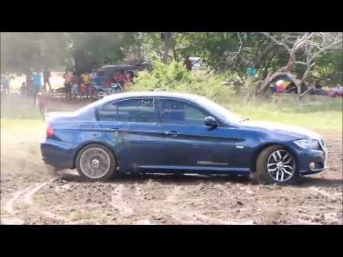 BMW Drift in Lake BMW took a heap of mud boy working preserved