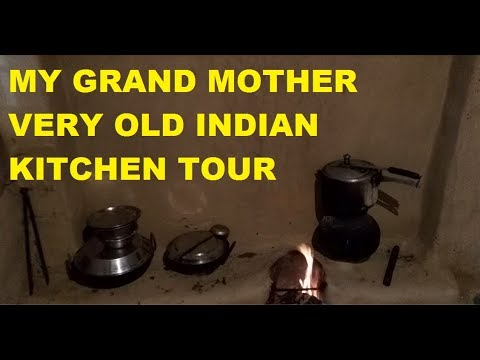 My Grand Mother Very Old Indian Kitchen Tour Very Old And Small Indian Kitchen Tour