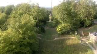 Zipline in horseshoe valley