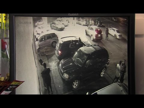 Surveillance video released of shootout at gas station on Indianapolis