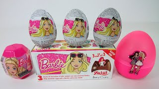 Opening Barbie Surprise Toy Eggs, Barbie Toys, Zaini Chocolate Eggs, Unboxing, Huevos Sorpresa
