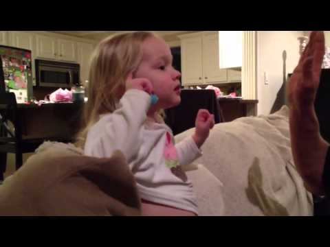 A 2 year old fills out her 2012 NCAA bracket!!!