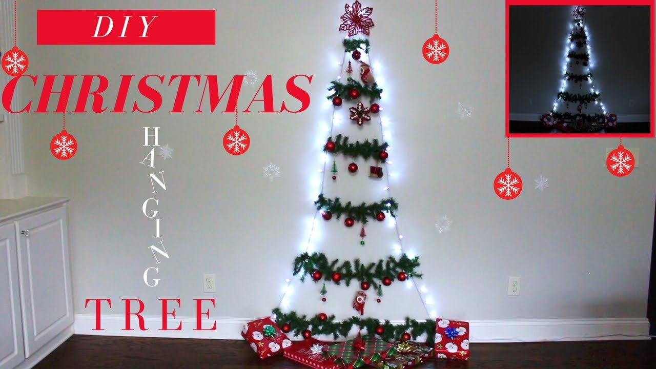 DIY CHRISTMAS HANGING TREE