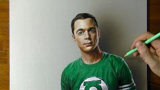 Drawing Sheldon Cooper from The Big Bang Theory