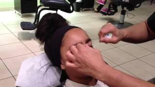 Getting my Eyebrows Threaded