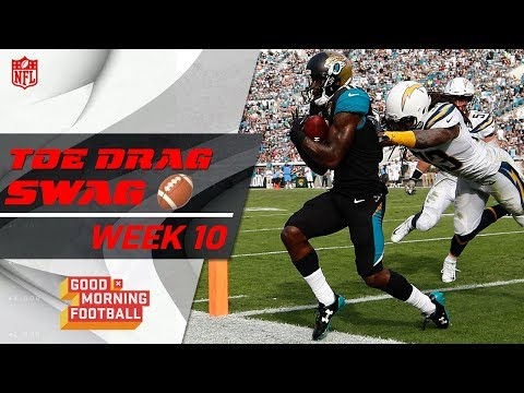 Top Toe-Drag Catches of Week 10 🙌 | Good Morning Football | NFL Highlights