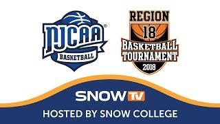Region XVIII Basketball Game #3 - #2 Snow College vs. #3 Southern Idaho