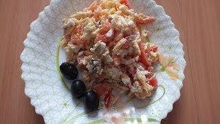 салат с морепродуктами(оригинальный рецепт салата с морепродуктами как приготовить салат рецепт салат с кальмарами креветками..., 2013-12-16T19:28:17.000Z)
