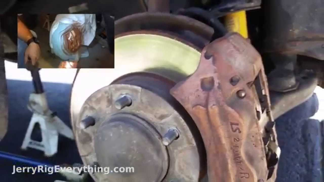 Best Brake Pads >> Replace Brake Pads And Rotors on Toyota Tacoma - YouTube