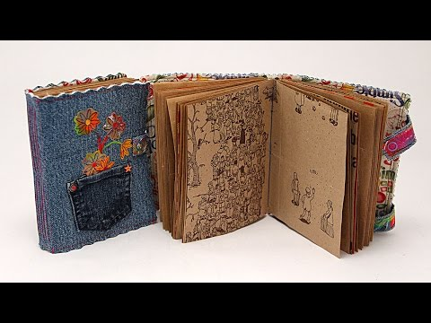 LIVE! Denim Art Journal With Recycled Paper Pages with Barb Owen - HowToGetCreative.com