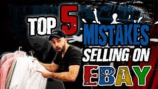 Top 5 Mistakes I made My First 5 Months Selling on Ebay