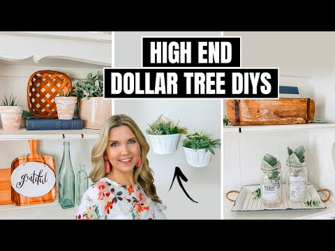 Farmhouse Dollar Tree DIY - Tons Of High End Dollar Tree DIYs!