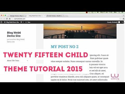 Create Twenty Fifteen Child Theme WordPress 2015