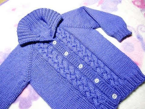 How To Knit A Seamless Braided Cable Baby Sweater Part 3 Youtube