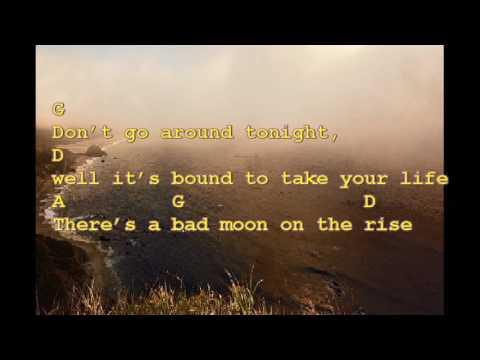 Creedence Bad Moon Rising Chords And Lyrics Chord Chart Play
