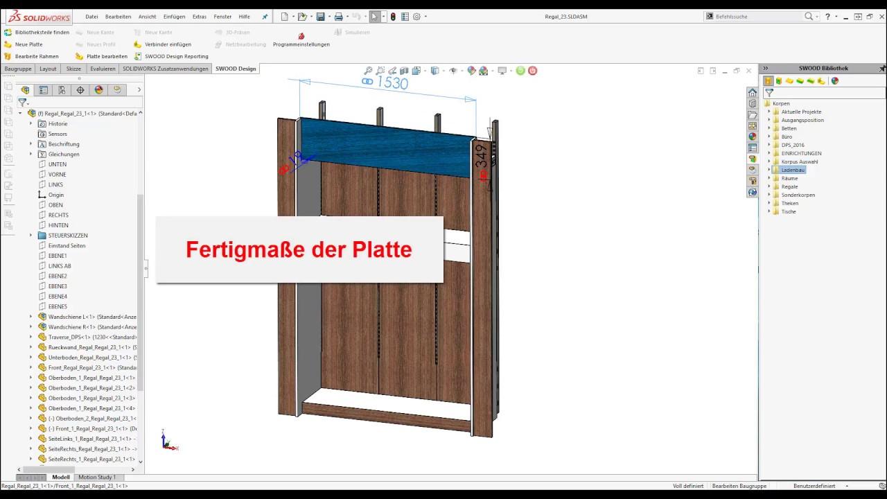 SWOOD Design - Fertig- und Zuschnittmaße - YouTube