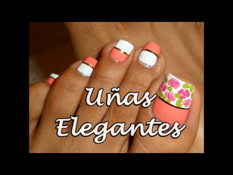 Decoracion Elegante Para Unas Para Los Pies Fancy Toe Nail Art