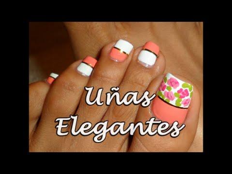 Decoración Elegante Para Uñas Para Los Pies Fancy Toe Nail Art