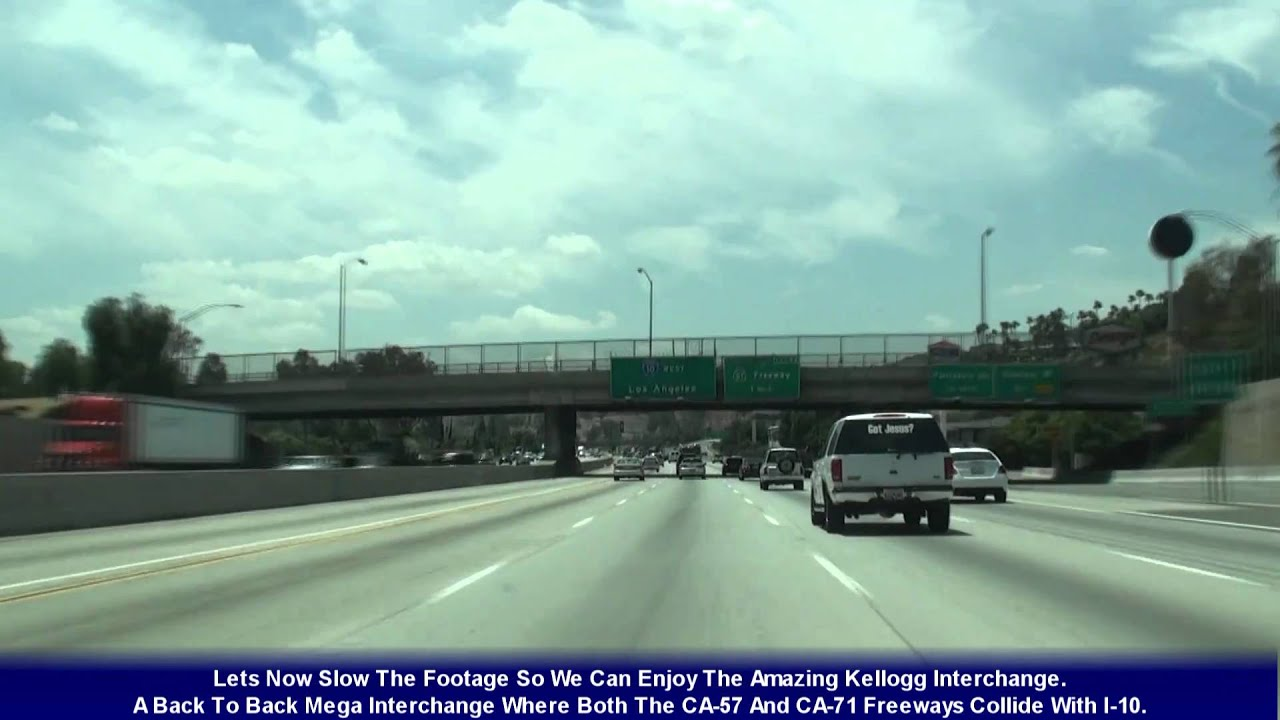 I 10 los angeles ca the san bernardino frwy exits 58 36 youtube sciox Choice Image