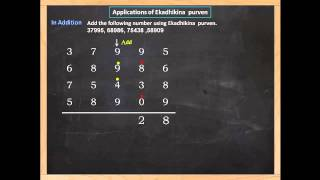 Addition of numbers using fastest method