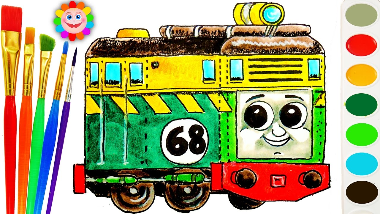 thomas and friends coloring page how to draw diesel philip