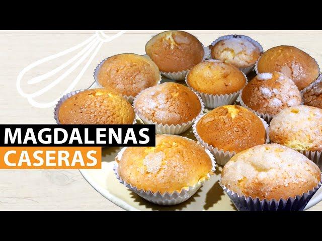 Magdalenas Caseras | Las Preparamos Paso a Paso. Receta fácil y rápida de realizar.