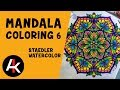 Mandala Coloring 6 - Watercolors