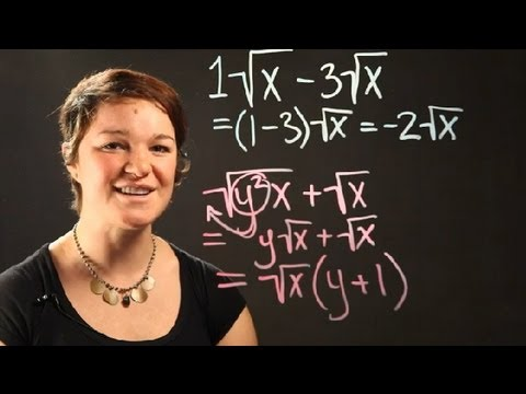How to Add and Subtract Radicals With Variables : Radical Numbers