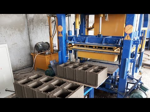 QT4 18 Automatic Hydraulic Hallow Block Making Machine In Djibouti, Cement Concrete Brick Machine