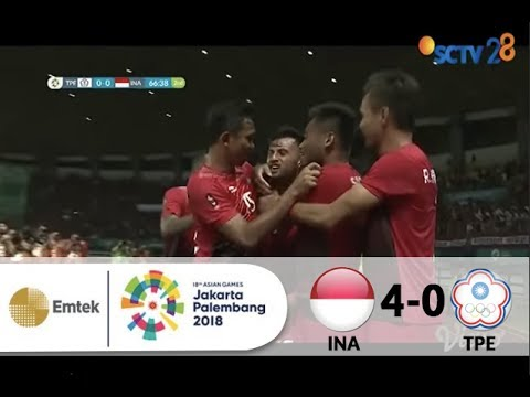 Chinese Taipei 0 vs 4 Indonesia | Full Highlights Sepak Bola Asian Games 2018